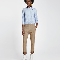 ASYMMETRIC CHECKED TROUSERS DETAILS
