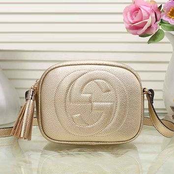 Gucci Women Shopping Leather Shoulder Bag Satchel Crossbody