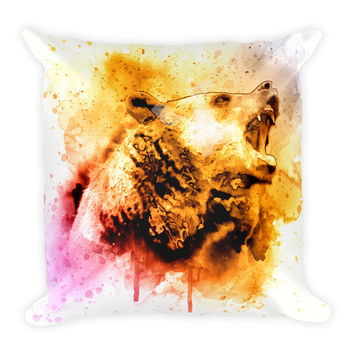 Bear Decorative Throw Pillow 18x18