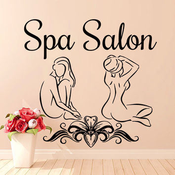 Wall Decal Beauty Spa Salon Art Girl Woman Vinyl Decals Stickers Interior LM166