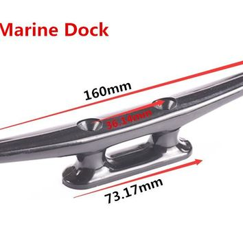 "4""/6"" Sea-Dog Marine Dock Hollow Anchor Flat Top 2 Hole Open Base Boat Cleat Rail Mount Kayak Canoe Deck Boat Rope Nylon Cleats"