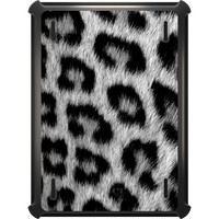 DistinctInk™ OtterBox Defender Series Case for Apple iPad - Black White Snow Leopard Fur