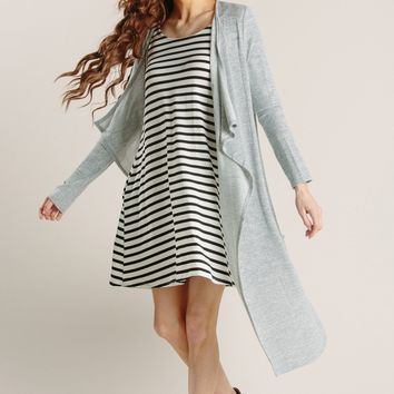 Tracie Grey Heathered Duster Cardigan