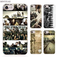 BINYEAE the Walking Dead Clear Cell Phone Case Cover for Apple iPhone 4 4s 5 5s SE 5c 6 6s 7 Plus
