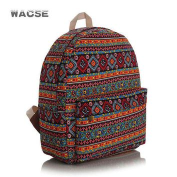 Canvas Fashion Stylish Casual Plaid Backpack = 4887773700