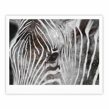 "Suzanne Carter ""Space Zebra"" Celestial Stripes Fine Art Gallery Print"
