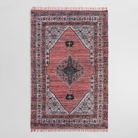 5'x8' Rust Orange Printed Chindi Reversible Bahari Area Rug