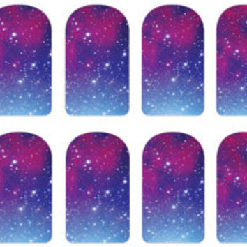 Galaxy Print Nail Decals