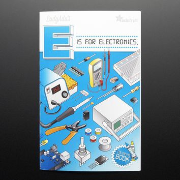 Coloring book - Ladyada's E is for electronics ID: 1000 - $9.95 : Adafruit Industries, Unique & fun DIY electronics and kits