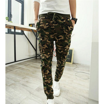 Camo Joggers Pencil Pants 2016 Fashion Slim Fit Camouflage Pants Men Pants For Track New Arrival KH853402
