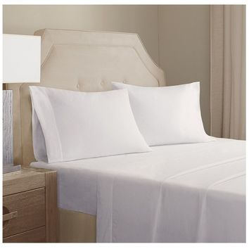 Arlo White Cotton Linen Sheet Set
