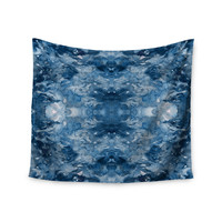 "Ebi Emporium ""Tie Dye Helix, Blue"" Blue White Wall Tapestry"