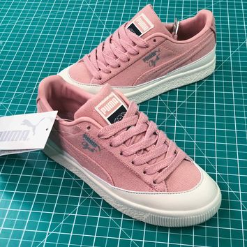 Diamond Supply Co. X Puma Clyde Pink Women's Sneakers Shoes - Best Online Sale
