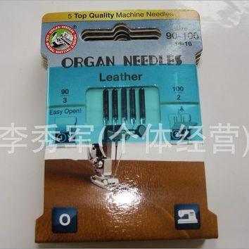 Domestic Household Sewing Machine Needle,Singer Brand,Leather special sewing machine needle,5PCS/Lot,Great Quality For Sale