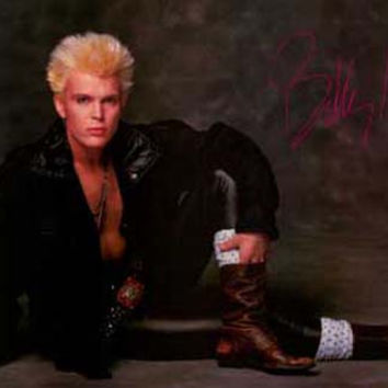 Billy Idol Portrait 1984 Poster 23x34