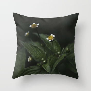 Botanical Still Life Chamomile Throw Pillow by ARTbyJWP