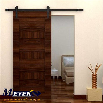 4.9Ft/6Ft/6.6Ft Carbon Steel Interior Wood Sliding Barn Doors