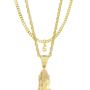 Mister  Pray Necklace - Gold