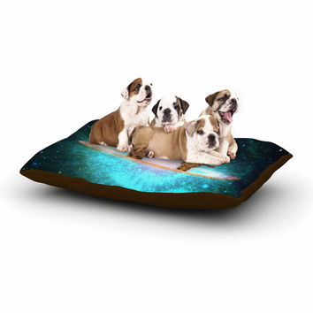 "Suzanne Carter ""Fred & Larry "" Teal Fantasy Dog Bed"