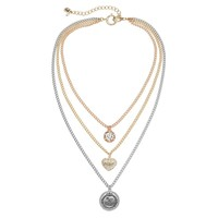 Juicy Couture Multistrand Heart Necklace (Grey)