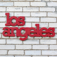 Los Angeles California Sign Upcycled Wood WilliamDohman