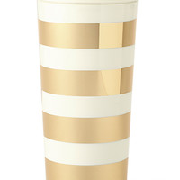 Kate Spade Thermal Mug -- Gold Stripes