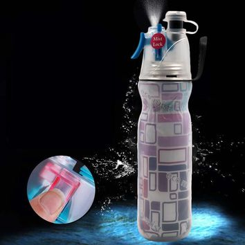 590ML Sports Drink Spray Water Bottle Cold Insulation Outdoor Bike Bicycle Cycling Hiking Gym Water Bottle