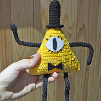 Bill Cipher from Gravity Falls / crochet Bill Cipher / Bill Cipher plush/ Bill Cipher amigurumi