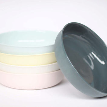 nesting bowl large - porcelain (slate colour)