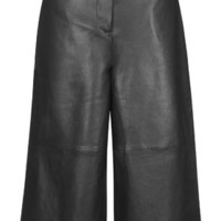 Premium Leather Culottes - Green