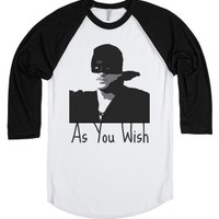 As You Wish | Wesley-Unisex White/Black T-Shirt