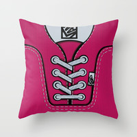 Pink Vans shoes iPhone 4 4s 5 5s 5c, ipod, ipad, pillow case and tshirt Throw Pillow by Three Second
