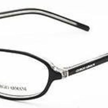 NEW AUTHENTIC GIORGIO ARMANI GA 159 COL MH9 BLACK PLASTIC EYEGLASSES