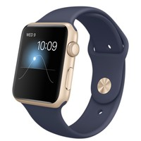 Apple Watch Sport - 42mm Gold Aluminum Case with Midnight Blue Sport Band