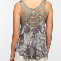 Urban Outfitters - Staring At Stars Tie-Dye Crochet-Back Tank Top