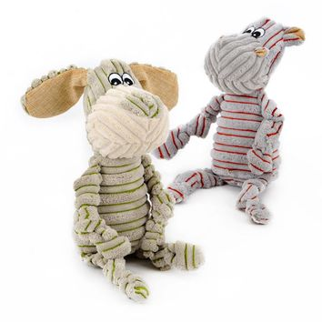HOOPET pet dogs Little donkey and pony stripe striped toy vocal Strong resistance to bite Puzzle molar pet toy