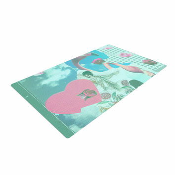 "Jina Ninjjaga ""Flamingo Attack"" Pop Art Woven Area Rug"