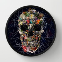 Fragile Skull Wall Clock by Ali GULEC