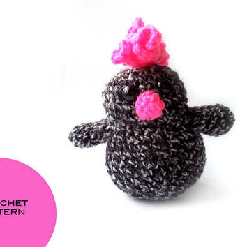 Crochet pattern - bird chicken - simple amigurumi tutorial - toy animal - soft toy - instant download