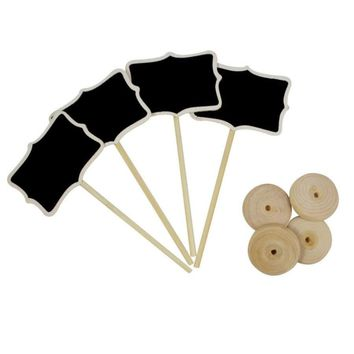 50Pcs Mini Wooden Chalkboard Table Number Place Card Holder for Wedding Decoration