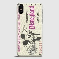 Disneyland Tickets iPhone X Case