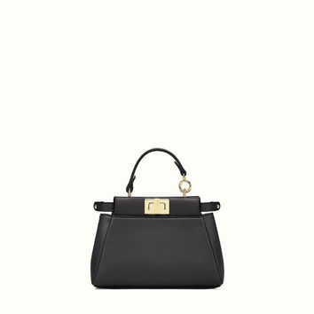 micro bag in black leather - MICRO PEEKABOO | Fendi | Fendi Online Store