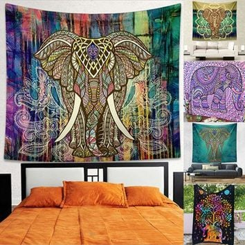 LMF9GW Indian Mandala Tapestry Hippie Wall Hanging Bohemian Bedspread Throw Dorm Decor