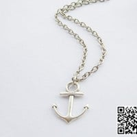 Anchor Necklace Nautical Necklace With bronze Heart charm Necklace - Sweet and Heart Anchor gift to girlfriend