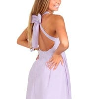 The Finer Things Lavender Seersucker Bow Dress | Monday Dress Boutique
