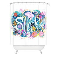 Stephanie Corfee Shine Watercolor Shower Curtain