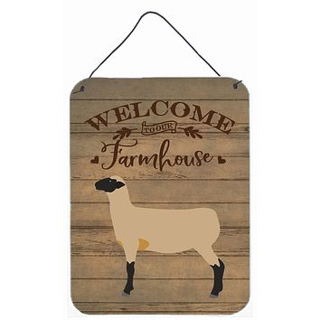 Hampshire Down Sheep Welcome Wall or Door Hanging Prints CK6920DS1216