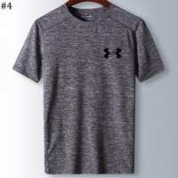 UA Under Armour 2018 new men's fitness running quick-drying short-sleeved T-shirt #4