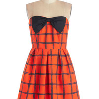 ModCloth Mid-length Strapless A-line Tasting Date Dress
