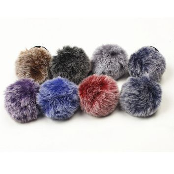 1PC Rabbit Fur Hair Band Elastic Hair Bobble Pony Tail Holder hair accessories barrette cheveux bandeau cheveux femme adulte